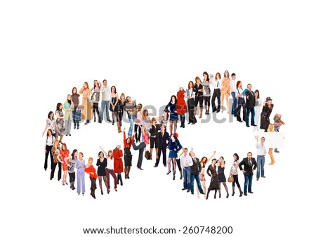 Big Group Concept Image  - stock photo