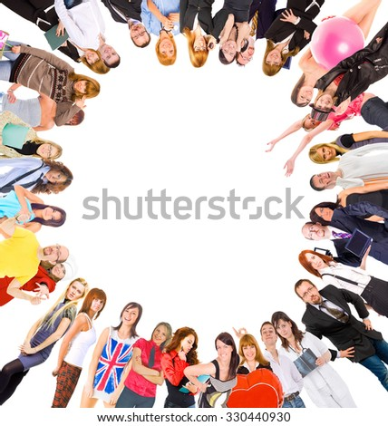 Big Group Team Together  - stock photo