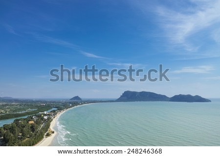 Big gulf with blue sky - stock photo