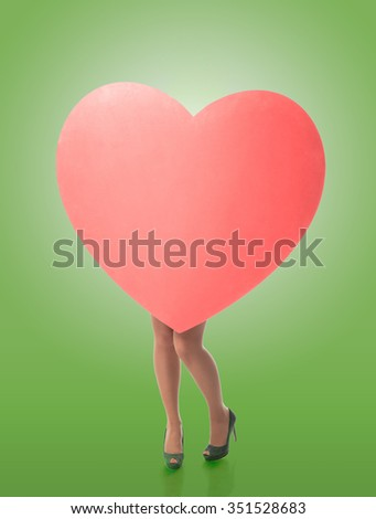 big heart female legs