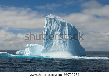 Big iceberg in Antarctic ocean - stock photo