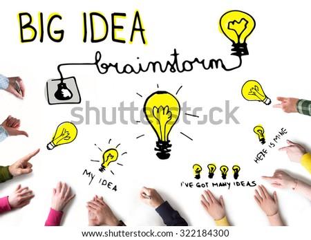 Big Idea concept, Brainstorming - stock photo