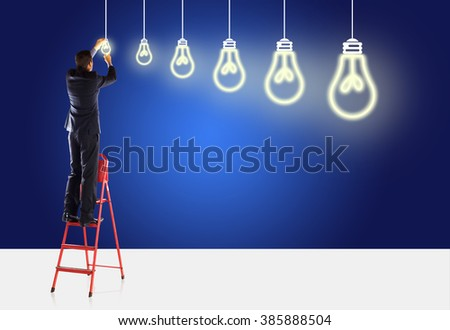 Big Ideas and small Ideas - stock photo