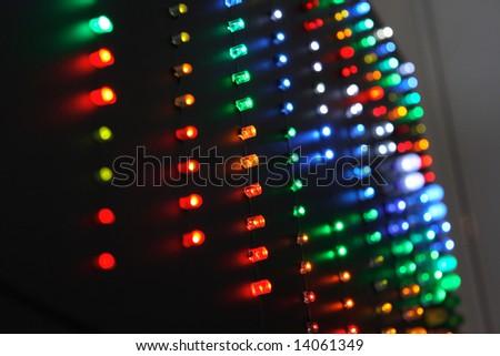 Big indicator panel. - stock photo