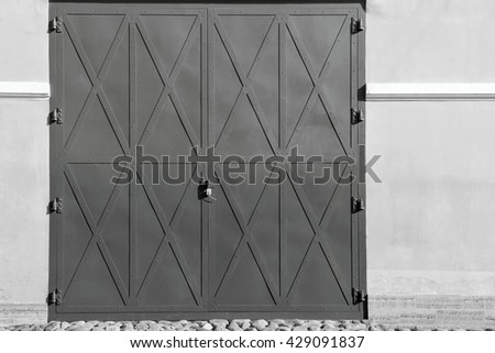 big iron doors or gate of monochrome tone for an ancient architectural background & Iron Door Stock Images Royalty-Free Images u0026 Vectors | Shutterstock pezcame.com