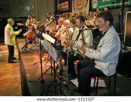 big jazz band - stock photo