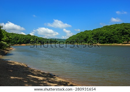 Big lake in Belgrade forest near Istanbul, Turkey - stock photo