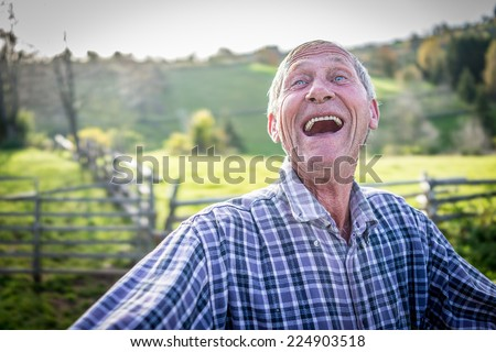 Big laugh - stock photo