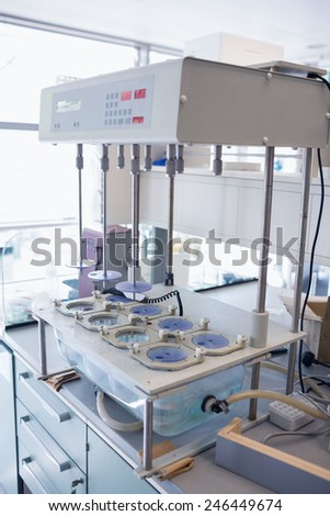 Big machine in the laboratory at the hospital - stock photo