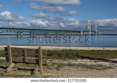 Big Mackinac Bridge - stock photo