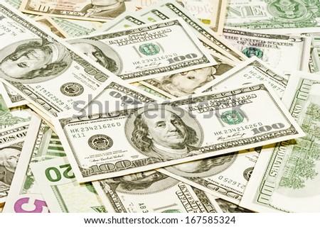 Big Money closeup - stock photo
