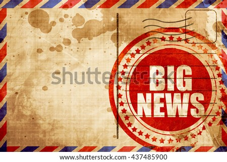 big news - stock photo