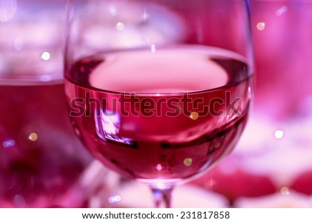 Big nice glass of red wine for party and celebration - stock photo
