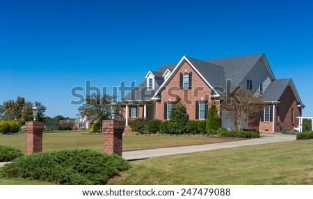 Big nice house - stock photo