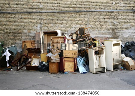 Big pile of rubbish - stock photo