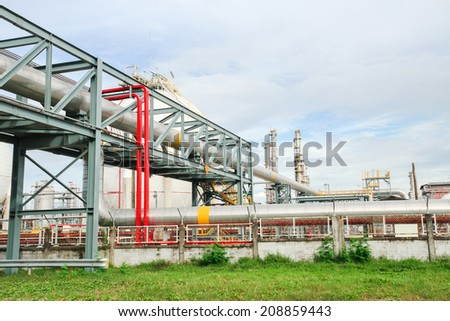 Big pipes and iron structure in plant