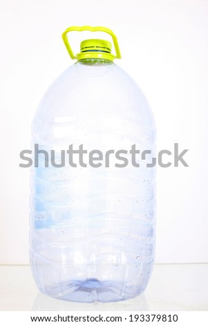 big plastic bottle - stock photo