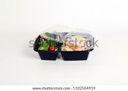 Big Plastic Food Storage Containercabbage Rice Stock Photo Royalty