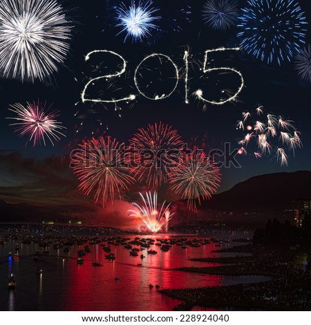 big pyrotechnics / ignited for the masses / fireworks display - stock photo