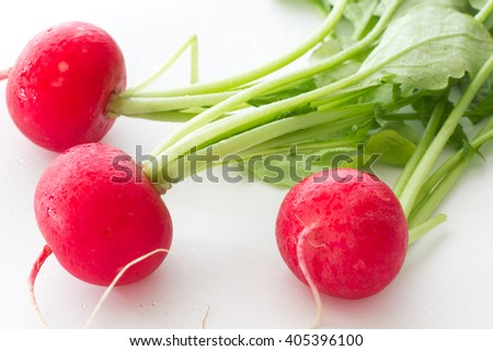 Big radish on a white background