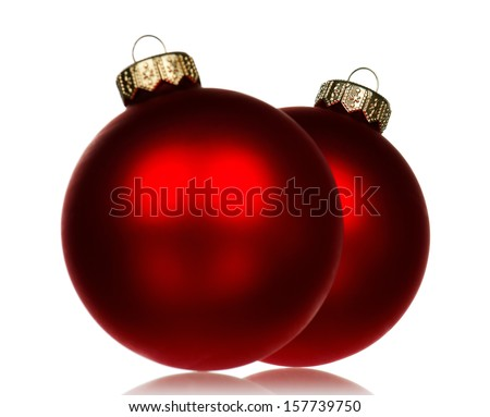 Big red baubles for christmas firtree