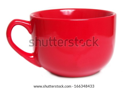 big red cup over white