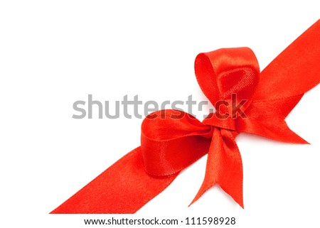 Big red holiday bow - stock photo