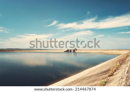 Big reservoir - stock photo