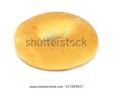 Big ring bagels on a white background