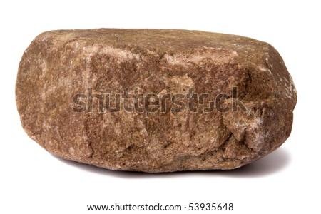 Big rock isolated on white - stock photo