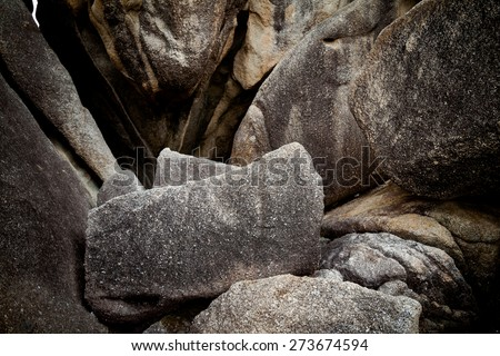 Big rocks on tropical island Koh Samui in Thailand. Landscape of south east Asia. - stock photo