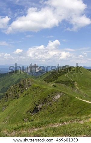 Big Rozsutec, the high Peak of mountain Little Fatra, Slovakia