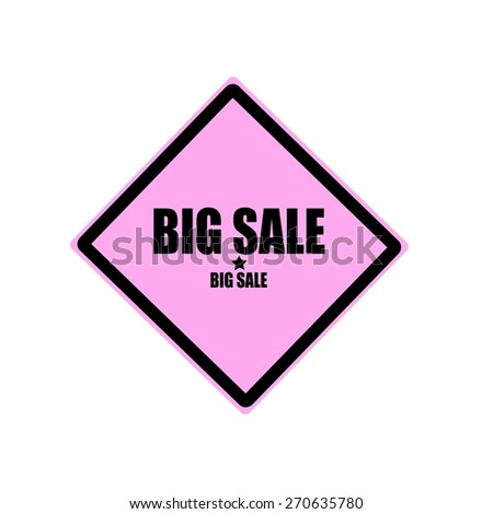 Big sale black stamp text on pink background - stock photo