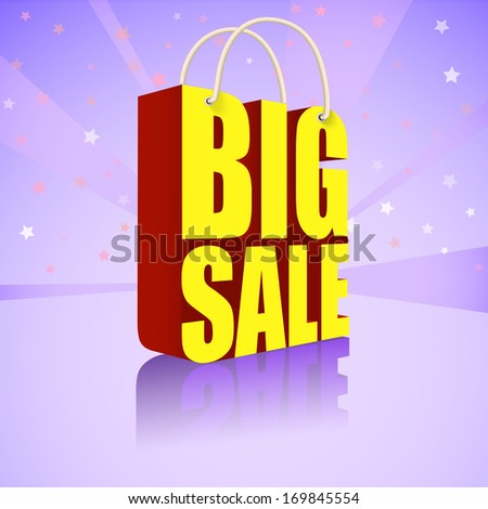 Big sale, bright, colorful banner for your business - stock photo