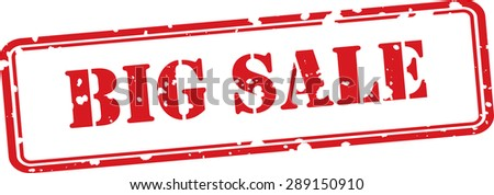 Big sale  red grunge stamp isolated on white background. - stock photo