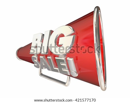 Big Sale Save Money Megaphone Bullhorn 3d Animation - stock photo