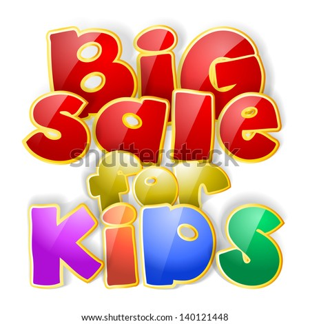 big sale sign for kids
