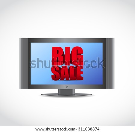 Big sale tv ad business sign illustration design icon graphic