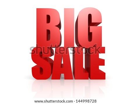 Big sale word - stock photo