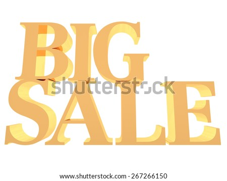 Big sale word, 3d program render image