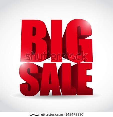 Big sale word illustration design over a white background - stock photo