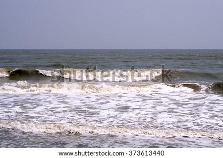 Big see wave - stock photo