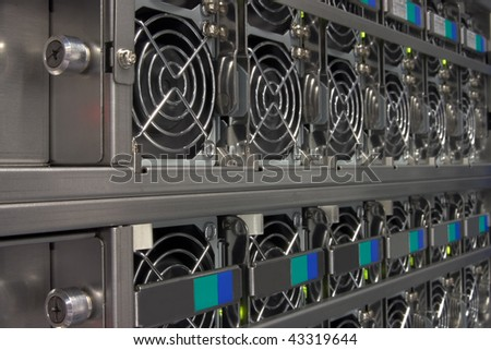 Big server power supply unit. - stock photo
