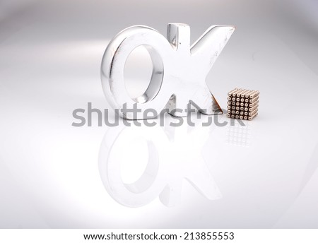 Big Silver Letters Best Big Silver Letters Ok Stock Photo 213855553  Shutterstock Decorating Design