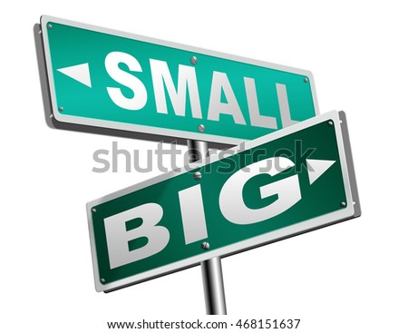 big small size matters no deal or issue 3D illustration