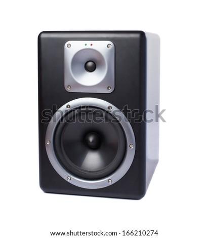 big speaker isolated on white background - stock photo