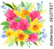 Big spring beautiful bunch. Raster version. Vector version is in my gallery. - stock photo