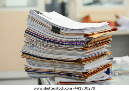Big Stack Business Report Paper Files Stock Photo 327350255 ...
