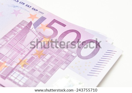Big Stack of money -euro banknotes are the currency from Europe