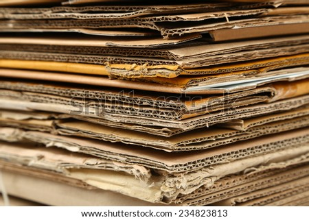 Big stack of papers, close-up